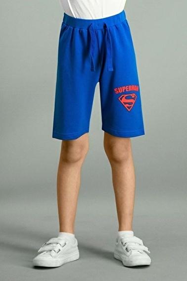 Superman  Lisanslı Kırmızı Erkek Çocuk Bermuda Mavi